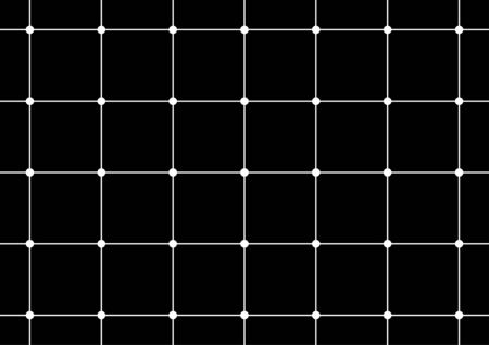 Black and white grid drawing. Optical illusion.