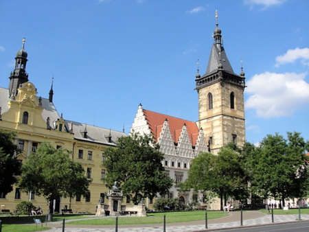 A view from Karlovo Namesti, Prague's largest Square and one of Europe's largest squares.
