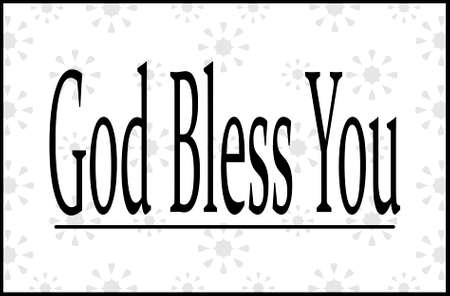 Sneezing wish. God bless you words. Christian lettering. God bless you.