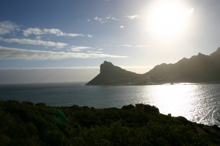 chapmans: Hout Bay at sunset from Chapmans Peak