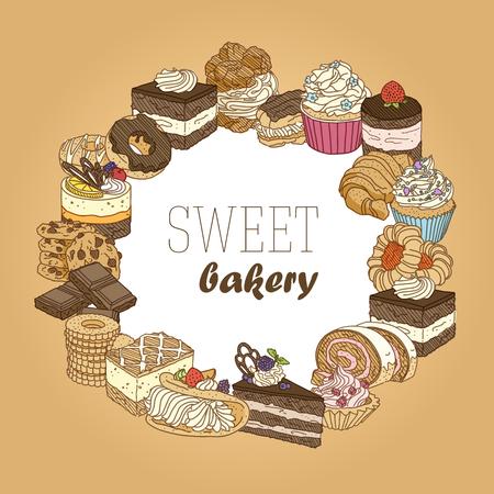 article: Sweet bakery food (circle)