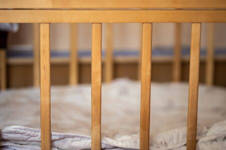 Baby cot, rods of crib without child