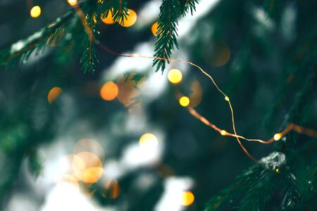 Christmastree background with lights