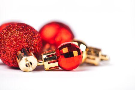 Christmas balls isolated Stock Photo