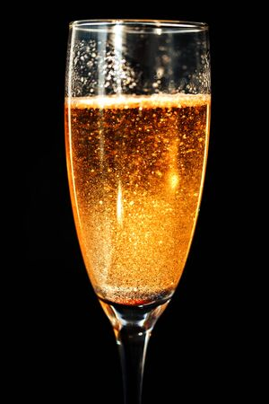 One glass of champagne.