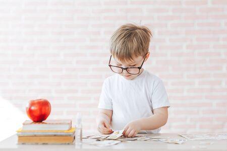Teaching children at home Stockfoto
