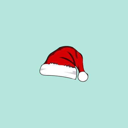 Drawn christmas hat in red, drawing for a card.  イラスト・ベクター素材