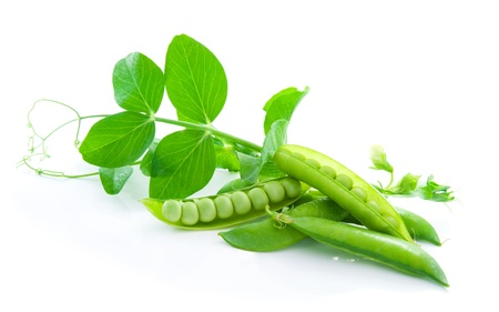 Fresh, green, sweet peas Stock Photo - 21349765