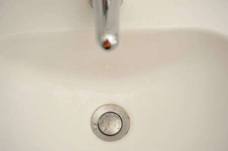 Water drops on the washstand photo