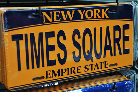 license plate: Times square license plate