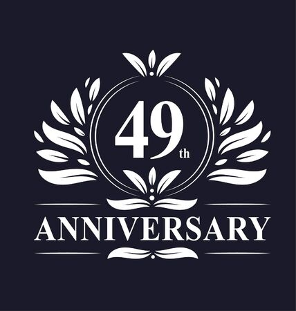49 years Anniversary logo, luxurious 49th Anniversary design celebration. Illustration