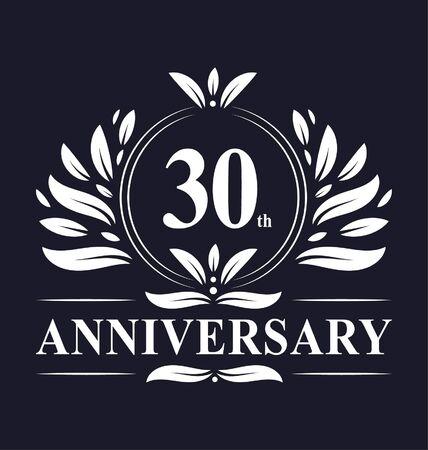 30 years Anniversary logo, luxurious 30th Anniversary design celebration.