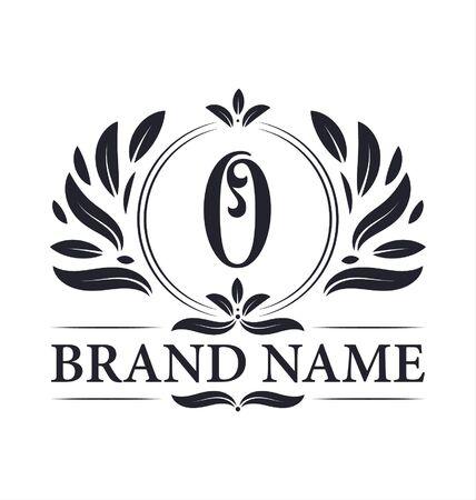 Création de logo de luxe Logo de la lettre O. Création de logo vintage élégant alphabet ornemental lettre O.