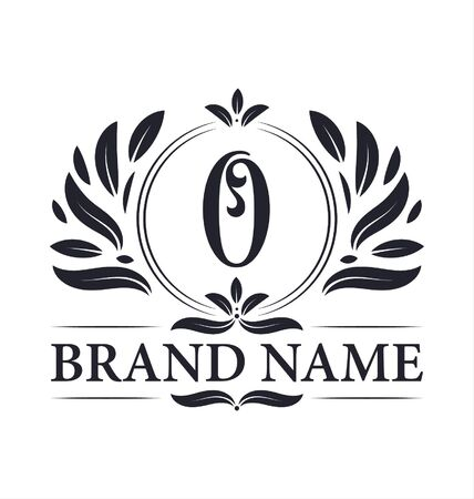 Luxus-Logo-Design Buchstabe O-Logo. Vintage-elegantes dekoratives Alphabet O-Brief-Logo-Design.