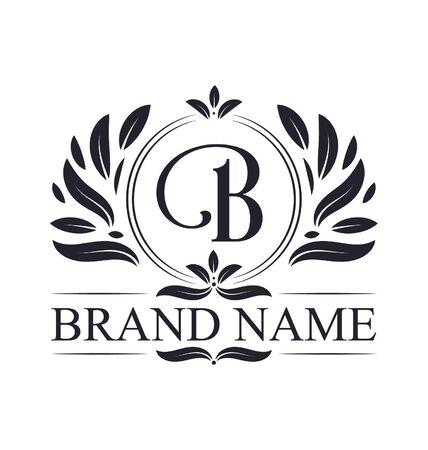 Vintage ornamental B logo design. Luxurious & elegant alphabet B letter logo design template.