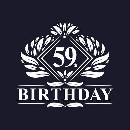 59 years Birthday Logo, Luxury 59th Birthday Celebration.