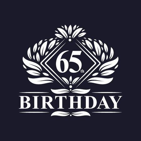 65 years Birthday Logo, Luxury 65th Birthday Celebration. Çizim