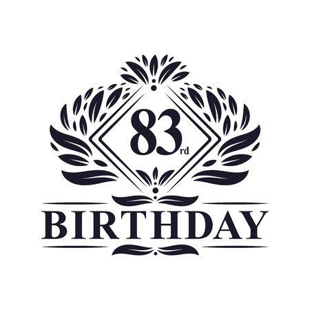 83 years Birthday Logo, Luxury 83rd Birthday Celebration. Çizim