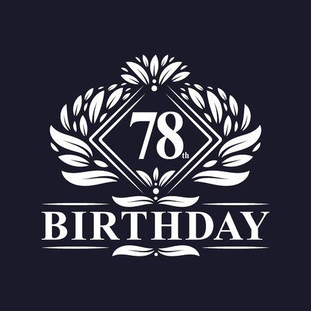 78 years Birthday Logo, Luxury 78th Birthday Celebration.