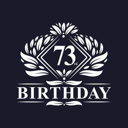 73 years Birthday Logo, Luxury 73rd Birthday Celebration.
