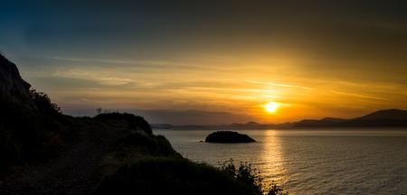 Hydra greece sunset
