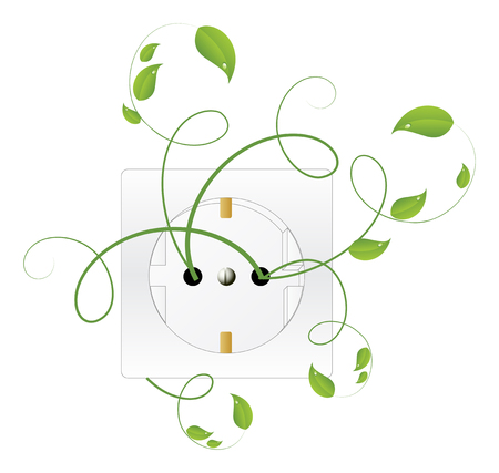 Bio Energy. Green Energy. Vector illustration. Vector