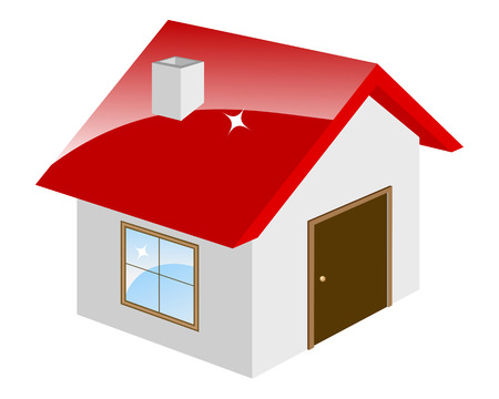 homestead: Little house isolated on a white. Vector illustration.