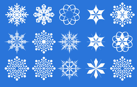 Snowflake icon set. Vector illustration. Stock Vector - 5441150