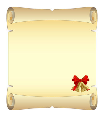 christmas scroll: Empty paper for Christmas greeting. Vector illustration. Illustration