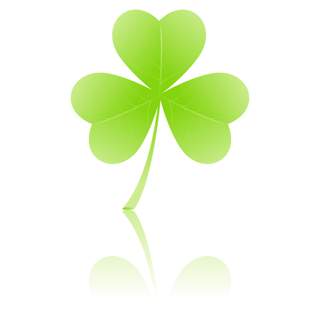 Simple three-leafed clover or shamrock suitable for St. Patrick's Day or Irish themes Stock Vector - 6175975