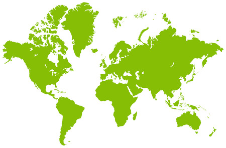 Австралия: Global map, isolated on a white. illustration