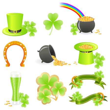 St. Patricks Day symbols. Vector