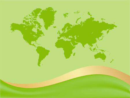 Global world map background.  illustration Stock Vector - 6606265