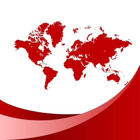 Red world map background.  Stock Vector - 6642325