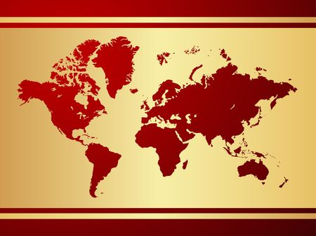 World map background. Stock Vector - 6642327
