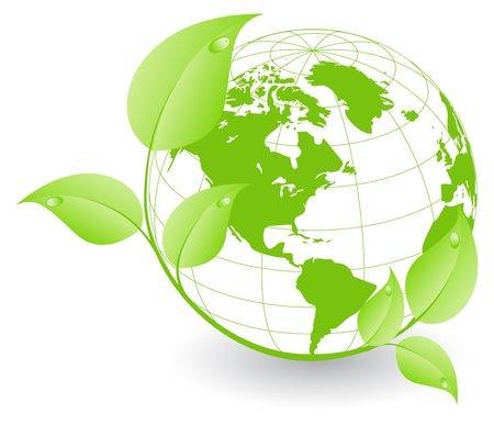 Terra coperto dalle piante verdi, il concetto di ambiente.