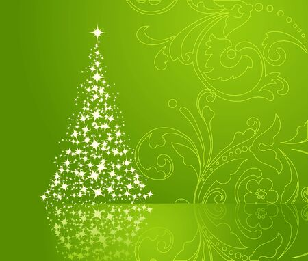 Christmas background, silhouette of a christmas tree. Stock Vector - 7234118