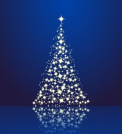 Noël arrière-plan, la silhouette d'un arbre de Noël.
