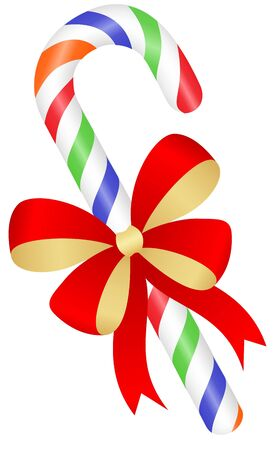 Christmas candy cane isolated on a white background. Vector illustration. Illustration