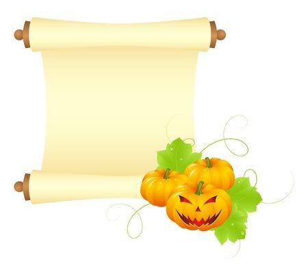 paper scroll: Halloween blank paper scroll