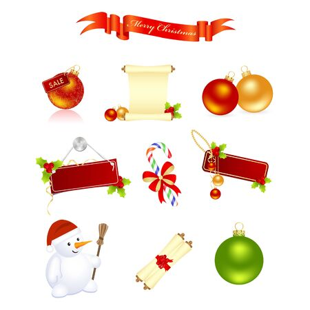 Christmas elements Stock Vector - 7911052