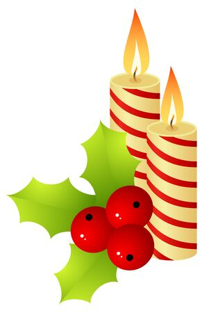 hollyberry: The burning candles and hollyberry