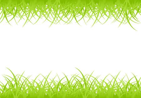 Horizontal framework, green grass Stock Vector - 8117444