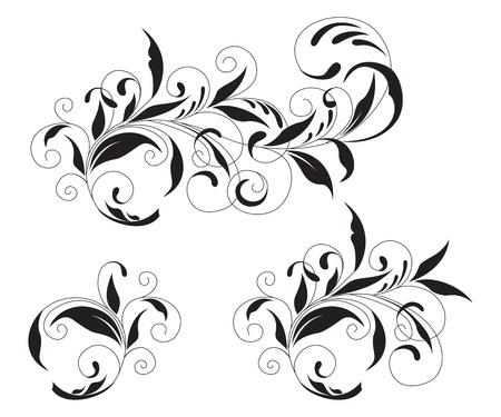 Black and white ornament