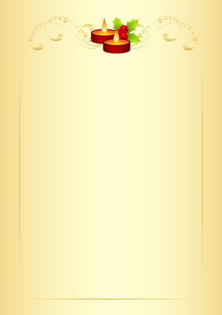 Christmas form for the letter with new year decorations Vector