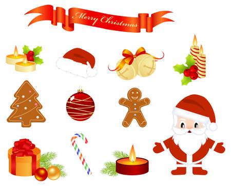 Christmas elements Stock Vector - 8346225