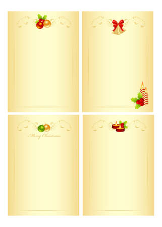 Set christmas form for the letter with new year decorations.  illustration. illustration