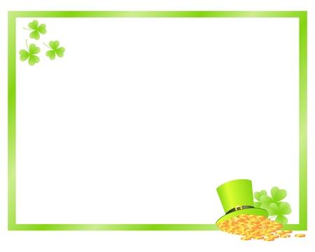 Green frame for patrick's day. Vector illustration. Stock Vector - 9102444