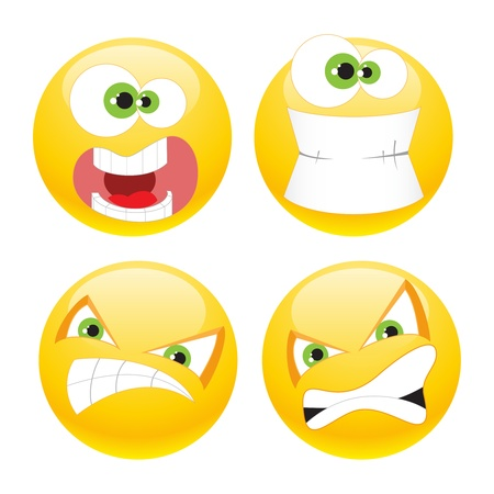 laugh emoticon: Set of cool smileys