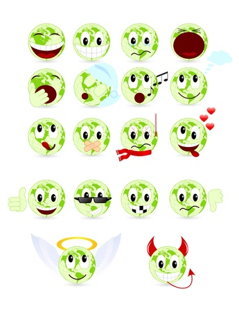Set of cool smiles Vector